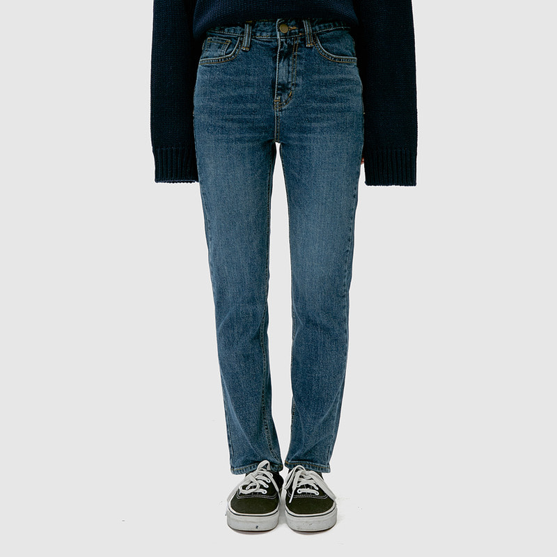 [무료배송] Basic straight denim pants-모스빈