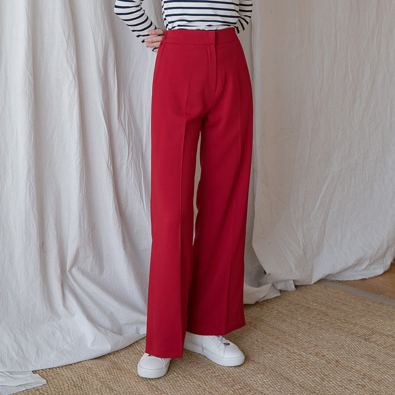 [무료배송] Slit maxi straight slacks-모스빈