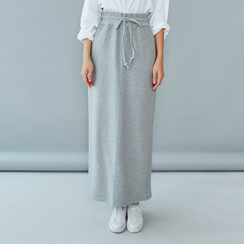 [MOS] average 170. casual string maxi skirt-모스빈
