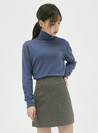 [무료배송] Soft daily highneck knit-모스빈