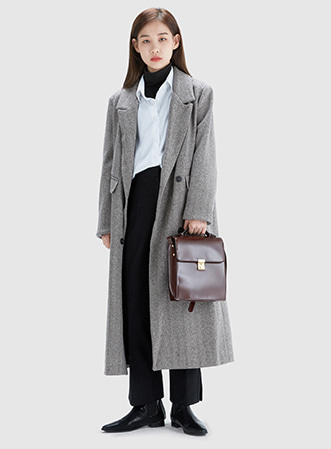 Wool herringbone double coat 패션쇼핑몰 모스빈(Mossbean)