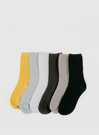 Twist basic socks-모스빈