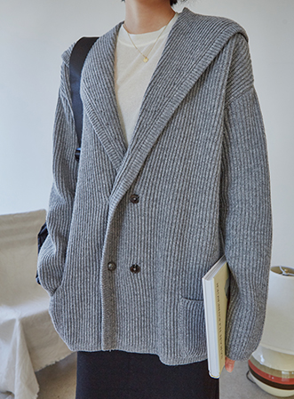 [무료배송] Wide shawl collar cardigan-모스빈