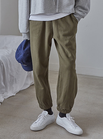 [무료배송] Cozy color jogger pants-모스빈