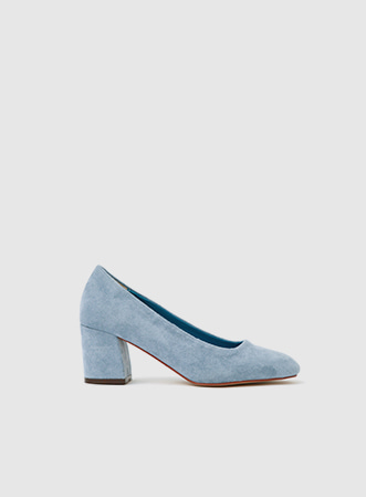 [무료배송] Simple suede midi heel-모스빈