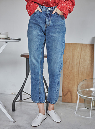 [무료배송] Twist line denim pants-모스빈