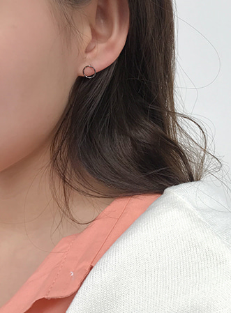 Blank little circle earrings 패션쇼핑몰 모스빈(Mossbean)
