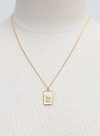 [무료배송] Arcane square necklace-모스빈